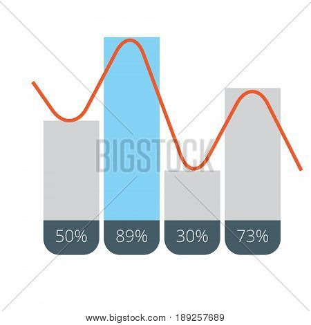 Diagram Chart Clustered Column Line | set of vector diagram illustration use for presentation, business, marketing and much more.The set can be used for several purposes like: websites, print templates, presentation templates, and promotional materials.