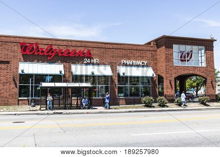 Indianapolis - Circa June 2017: Walgreens Retail Location. Walgreens is an American Pharmaceutical Company XIII