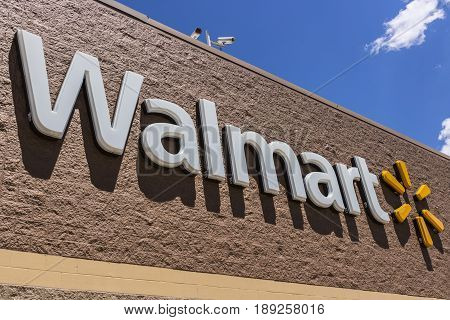 Indianapolis - Circa May 2017: Walmart Retail Location. Walmart is an American Multinational Retail Corporation XIII
