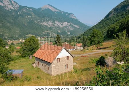 rural house around vusanje village in Prokletije Mountains, Montenegro