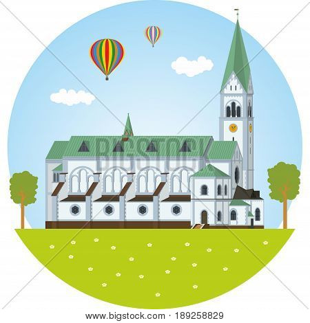The Puppet theatre of Kaliningrad. Vector illustration EPS