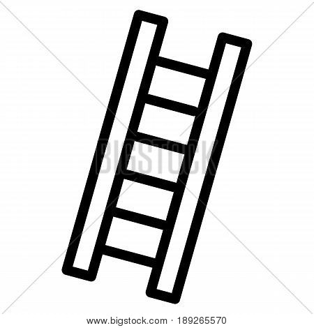 Ladder simple vector icon. Black and white illustration of ladder. Outline linear icon. eps 10
