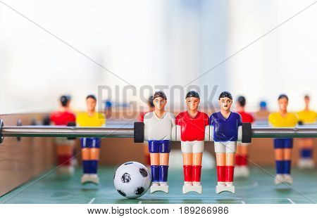 foosball table soccer .sport teame football players