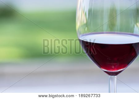 Glass of Cabernet Sauvignon Red Wine Close Up