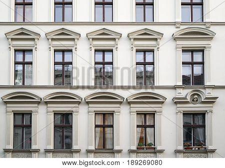 beautiful old house with stucco in Berlin Kreuzberg