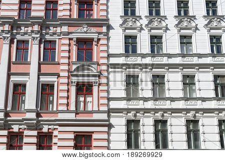 Beautiful Old House With Stucco In Berlin , Kreuzberg