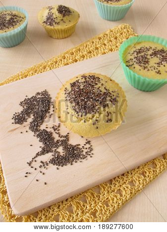 Maize flour bread muffins with chia seeds
