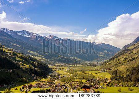 Bad Gastein in the Gastein Valley in spring
