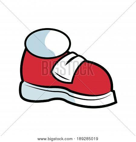 cartoon sneaker sport shoes over white background. vector illustration