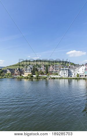 People Enjoy Visiting The Old Town Of Traben-trarbach With Its Famous Art Deco And Half Timbered Hou