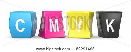 Cmyk Funny Cubes