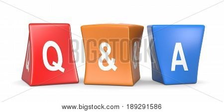 Question And Answer Concept Funny Cubes