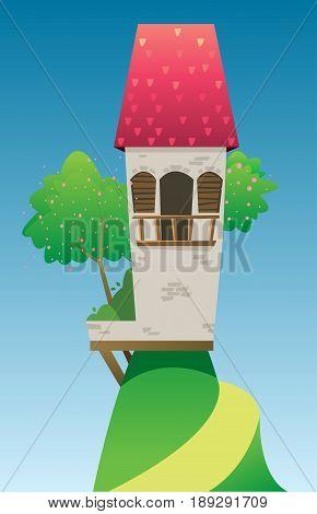 Digital Vector, Fairytale And Fantasy Castle