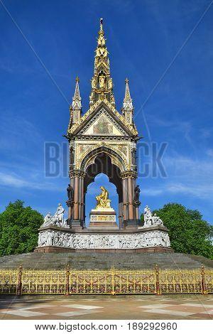 Prince Albert Memorial  in Kensington Gardens, Hyde Park area, London, UK