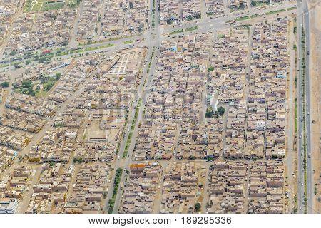 Lima Urban Outskirt Aerial View