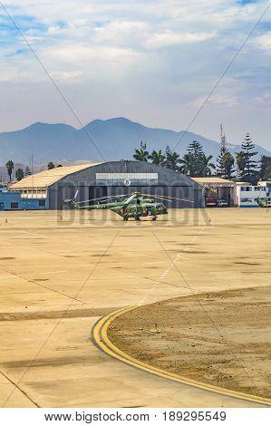 Jorge Chavez Airport, Lima, Peru