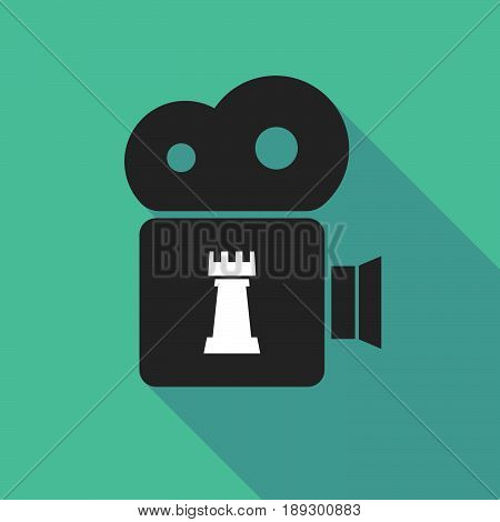 Long Shadow Camera With A  Rook   Chess Figure