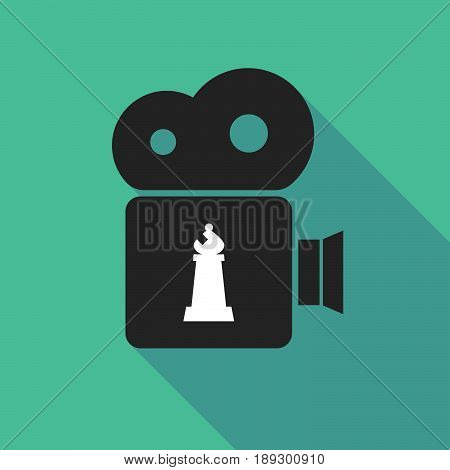 Long Shadow Camera With A Bishop    Chess Figure