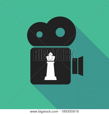 Long Shadow Camera With A  King   Chess Figure