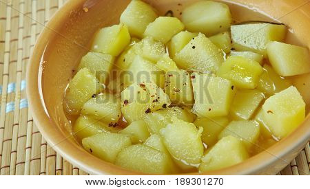 Maple Glazed Rutabaga. Finnish cuisine.  Close up.