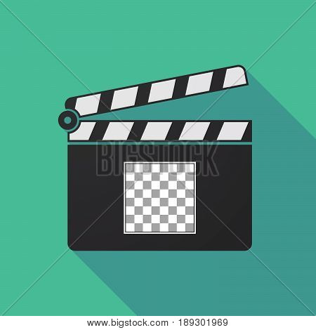 Long Shadow Clapper Board With  A Chess Board