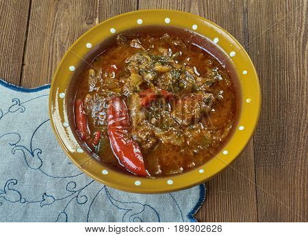 Basque homemade Lamb Stew . French cuisine