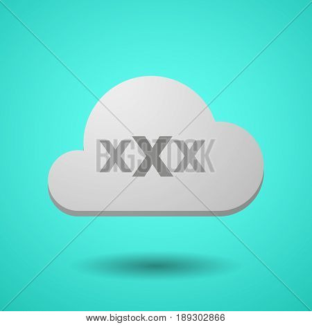 Vectorial Cloud With  A Xxx Letter Icon