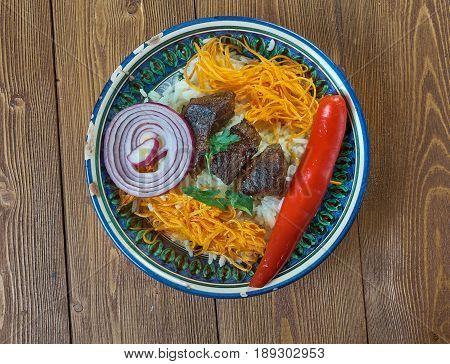 tacik pilavi . Central Asian cuisine. asian food