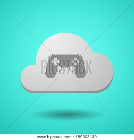 Vectorial Cloud With  A Game Pad