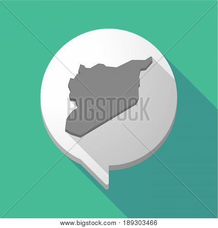 Long Shadow Comic Balloon With  The Map Of Syria