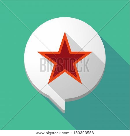 Long Shadow Comic Balloon With  The Red Star Of Communism Icon