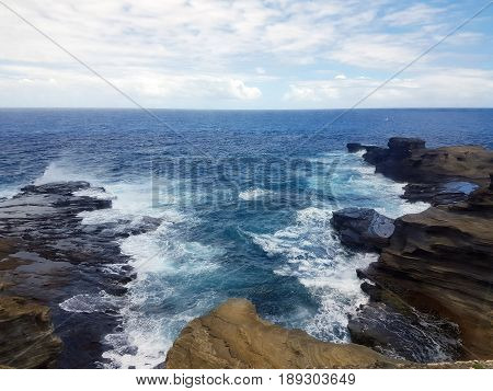 Scenic View of Sea and Sky at Makapu'u Point Lookout