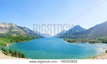 Beautiful Lake In Waterton Alberta