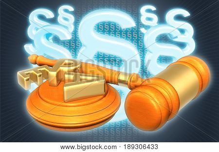 EPA Legal Concept 3D Illustration