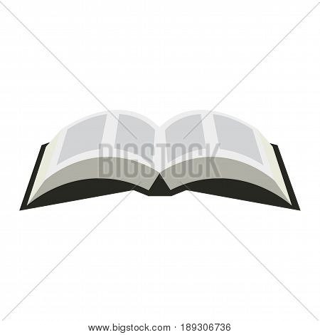 Opened book icon in a flat style isolated on a white background. Opened Bible symbol illustration. Book sign.