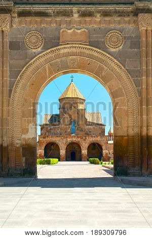 Etchmiadzin church building Armenian apostolic architecture. object of the world heritage of UNESCO. vagharshapat (etchmiadzin) Armenia