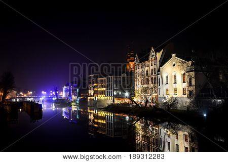 The Night City Opole Of Poland