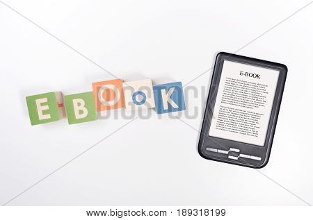E-book Reader Device And Toy Blocks Concept