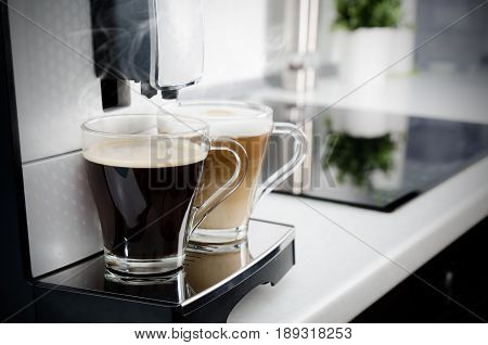 Two Cups Of Coffee, Home Professional Coffee Machine