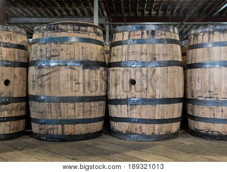 New Bourbon Barrels to be Filled in production area