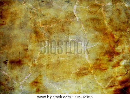 old crumpled paper sheet, background