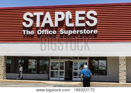 Lafayette - Circa June 2017: Staples Inc. Retail Location. Staples is a Large Office Supply Chain VI