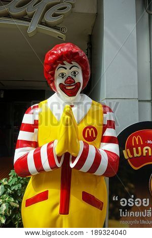 Mcdonald Mascot Of One Of Mcdonald Restaurant