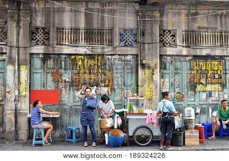 Street In Chinatown District, Bangkok