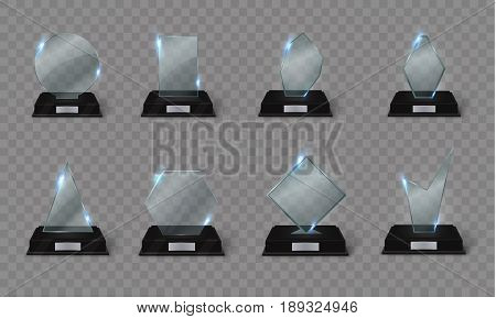 Blank Glass Trophy Vector & Photo (Free Trial) | Bigstock