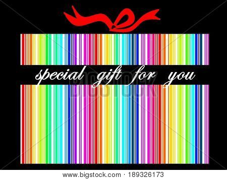 Special gift in bar code