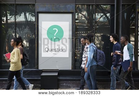 Graphic of question mark asking symbol