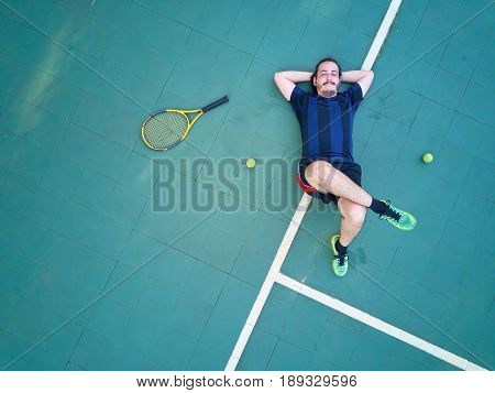 Tired Tennis Player