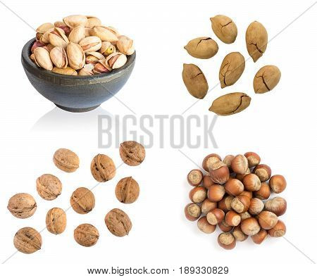 Collection Of Nuts In Shell