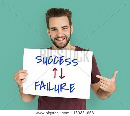 Success Failure Arrow Up Down Word